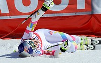 19.03.2015, Roc de Fer, Meribel, FRA, FIS Weltcup Ski Alpin, Meribel, Finale, Super G, Damen, im Bild Lindsey Vonn (USA, 1. Platz) // first placed Lin...
