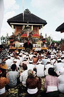 Indonesia, Bali, Denpasar, People celebrating traditional festival. (Large format sizes available)