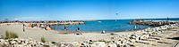 Panorama of beach at St. Marie de la Mare, France (Large format sizes available)