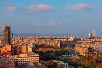 Barcelona overview. Barcelona, Spain.