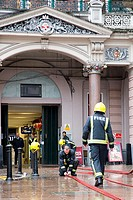 The London Fire Brigade are called to Charing Cross station after a fire broke out reportedly on one of the train platforms Featuring: charing Cross W...