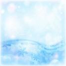 Image of blue abstract winter background, illustration of beautiful snowflakes, wintertime decorations border, happy New Year holiday, festive greetin...