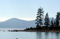 Landscape view of Lake Tahoe.