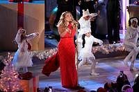 82nd annual Rockefeller Christmas Tree Lighting Ceremony at Rockefeller Center on December 3, 2014 in New York City. Featuring: Mariah Carey Where: Ne...