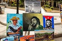 Cuba, Havana, Paseo del Prado, artwork for sale