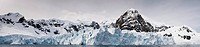 Scenic view of the glacier front in Paradise Harbour, Antarctic Peninsula
