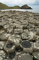Black Basalt Columns Sticking Out Of The Sea, Giant's Causeway, Northern Ireland, United Kingdom