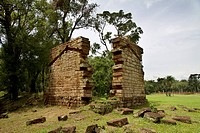 Ruins of the Santa Ana Jesuit Guarani Mission in the jungle, Santa Ana, Misiones, Argentina