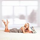 Blonde woman with calendar