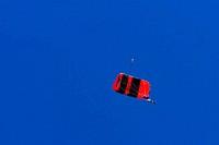 Parachutist Swing in the Sky