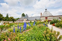 Kitchen Garden Of The Chateau De Cheverny, Cheverny, France