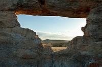 La Fenetre D'isalo Rock Formation, Isalo National Park, Fianarantsoa Province, Madagascar