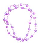 purple beads isolated on white background
