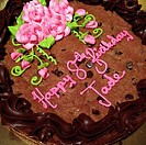 A cookie birthday cake.