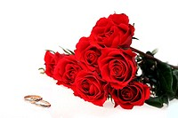 red roses and ring
