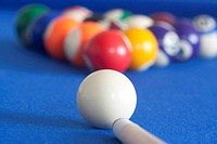 white ball ready to play pool