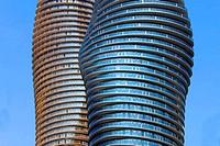 New twisty modern buildings