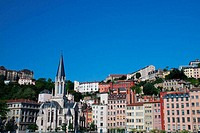 Landscape of buildings in Lyon, France.
