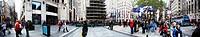 Rockefeller Plaza Christmans Tree Panorama Manhattan New York NY