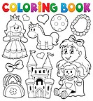 Coloring book with toys thematics 1 - picture illustration.