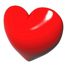 Lovely red heart with white surroun