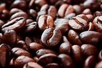 texture of the roasted coffee beans