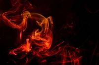 red orange smoke