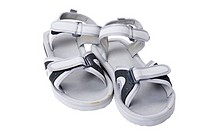 New flip flops on white