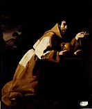 St. Francis in Meditation, 1639, Zurbaran, Francisco de (1598-1664) / National Gallery, London, UK / Bridgeman Images