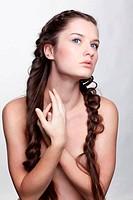 girl with creative hair-do