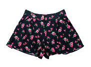 black shorts with roses
