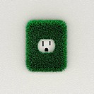 Green electrical outlet