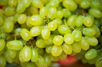 Green grapes in healthy eating concept