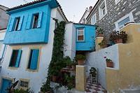 Private houses in Kokkari, Samos island, North Aegean islands, Greece, Europe