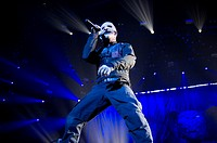 Slipknot perform live in concert during the 'Prepare for Hell Tour 2015' at the Heineken Music Hall Featuring: Corey Taylor Where: Amsterdam, Netherla...