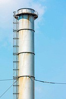 Factory Chimney Of Coal Power Plant