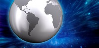 Composite image of silver earth