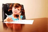 Girl talking on telephone