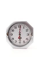 Clock isolated white background