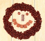 Smiley of coffee and chocolate.