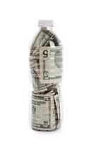 Plastic Bottle and Dollar