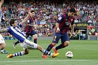 2015 La Liga FC Barcelona v Real Sociedad May 9th. 09.05.2015. Nou Camp, Barcelona, Spain. Spanish La Lig football. Barcelona versus Real Sociedad. Su...