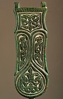 Belt buckle (copper), Visigothic, (7th century) / Museo Arqueologico Nacional, Madrid, Spain / Bridgeman Images