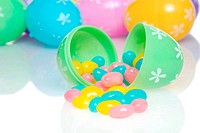 colorful easter jelly beans spillin