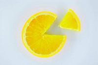 Orange sliced