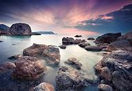 Vintage summer seascape