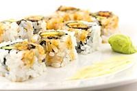 Hosomaki, Unagi maki, BBQ eel, avocado roll