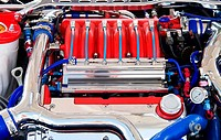 powerful engine of the modern car