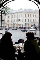 Women in a restaurant.