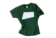 Green t-shirt isolated